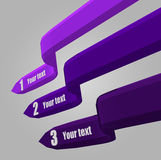 Vector illustration of 3D  infografic. Colorful Royalty Free Stock Photo