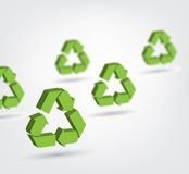 Vector illustration of 3d recycling symbol Stock Photography
