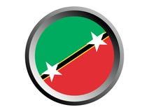 3D Round Flag of Saint Kitts and Nevis stock illustration