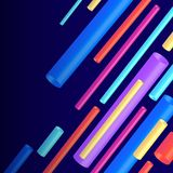 3d white pipes. Vector illustration of 3d white pipes on dark background. Abstract design Stock Photo