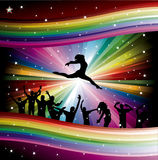 Vector illustration with dancers Royalty Free Stock Photo