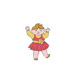 Vector illustration dancing baby Royalty Free Stock Images