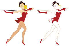 Vector illustration. The dancing girl of Variety Stock Photography