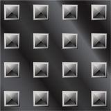Vector illustration of dark metal pyramid tread Stock Images