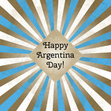 Vector illustration for Day of Argentina, retro style greeting card. Design template for poster, banner, flayer Stock Images