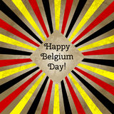 Vector illustration for Day of Belgium, retro style greeting card, web. Design template for poster, banner, flayer Stock Photography