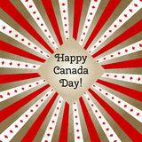 Vector illustration for Day of Canada, retro style greeting card. Design template for poster, banner, flayer, greeting Royalty Free Stock Photos