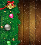 Vector illustration of decorated Christmas tree Royalty Free Stock Photography
