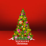 Vector illustration of decorated Christmas tree realistic illustration Royalty Free Stock Images