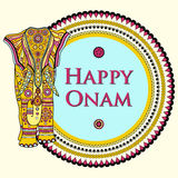 Vector illustration of decorated elephant for Happy Onam Stock Photos