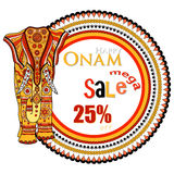 Vector illustration of decorated elephant for Happy Onam Royalty Free Stock Image
