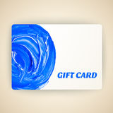 Vector illustration of decorated gift card with Royalty Free Stock Photos