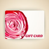 Vector illustration of decorated gift card with Royalty Free Stock Photography