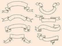 Vector illustration of decoration drowning ribbon set Stock Images