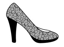 Vector illustration of decorative abstract shoe on white background Stock Images
