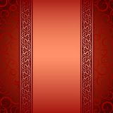 Vector illustration of decorative border. Royalty Free Stock Image