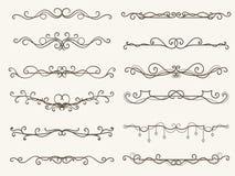 Vector illustration of decorative corner frame and line set. Vector illustration of decorative elements, Black border, corner frame and line set vector illustration