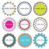 Vector illustration of a decorative frame set.  Stock Photography