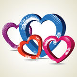 Vector illustration of decorative heart shapes Royalty Free Stock Images