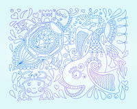 Vector illustration of decorative sea animals Stock Photo
