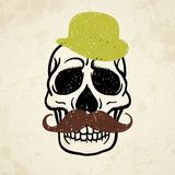 Vector illustration of decorative skull Royalty Free Stock Photo