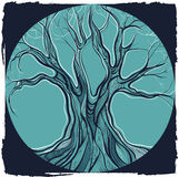 Vector illustration of decorative tree Stock Photography