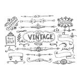 Vector Illustration of Decorative Vintage Elements Stock Image
