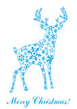 Vector illustration of deer Royalty Free Stock Photo