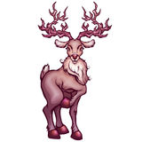 Vector illustration of deer in cartoon style Royalty Free Stock Image