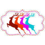 Vector illustration of deer Royalty Free Stock Photography