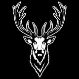 Vector illustration of a deer head Stock Photos