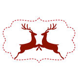 Vector illustration of deer Stock Photo