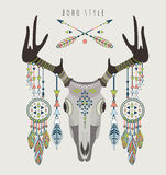 Vector illustration of a deer skull. Royalty Free Stock Images