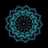 Vector Illustration, dekorative blaue Blumen-Paisley-Schablone, r lizenzfreie abbildung