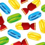 Sweetmeats caramel lollipop decorative pattern on white background. Vector illustration delicacies sweetmeats caramel colour decorative pattern on white royalty free illustration