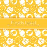 Vector illustration delicious pastries in doodle Stock Photo