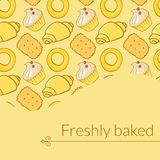 Vector illustration delicious pastries in doodle Stock Image