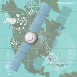 Vector illustration depicting a communications satellite Royalty Free Stock Photo