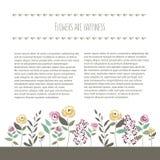 Vector Illustration der Blumenschablone in der flachen Designart mit Stockfotos