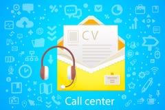 Vector Illustration der Charakterumschlag-Bürobesetzung mit Stockfotografie