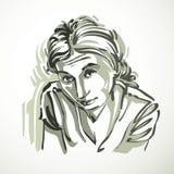 Vector Illustration der jungen Frau, Kunstbild Rebecca 6 Stockbilder