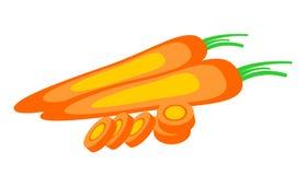 Vector Illustration der Karotte, über weißem Hintergrund Stockfoto