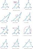 Arten des Dreiecks 3D Stockbild