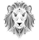 Abstrakter Löwe Stockbild