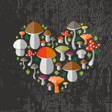 Vector Illustration des bunten flachen Designartwaldes Lizenzfreie Stockbilder