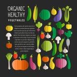 Vector Illustration des Gemüses in modernen flachen Designart wi Stockbild