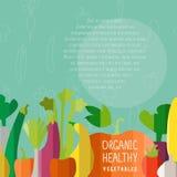 Vector Illustration des Gemüses in modernen flachen Designart wi Stockfoto