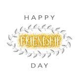 Vector Illustration des Hand gezeichneten glücklichen Freundschaftstag-felicitat Lizenzfreies Stockfoto