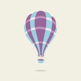 Vector Illustration des Heißluftballons auf dem Himmel Lizenzfreie Stockbilder