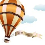Vector Illustration des Heißluftballons auf dem Himmel Stockfotografie